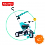 FISHER PRICE Tříkolka Smart Trike Charm Plus 3v1 - modrá