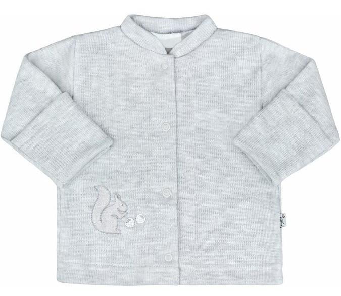 BABY SERVICE Zimní kojenecký kabátek Veverka šedý - 50cm ee4528962d